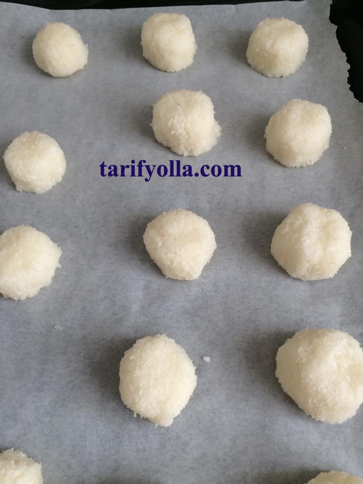 hindistan cevizli kurabiye yapımı