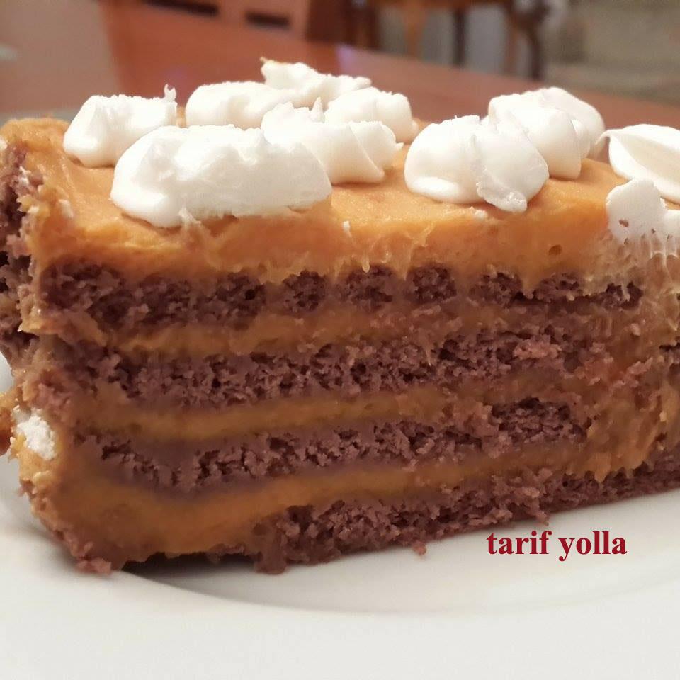 bisküvili balkabağı pastası