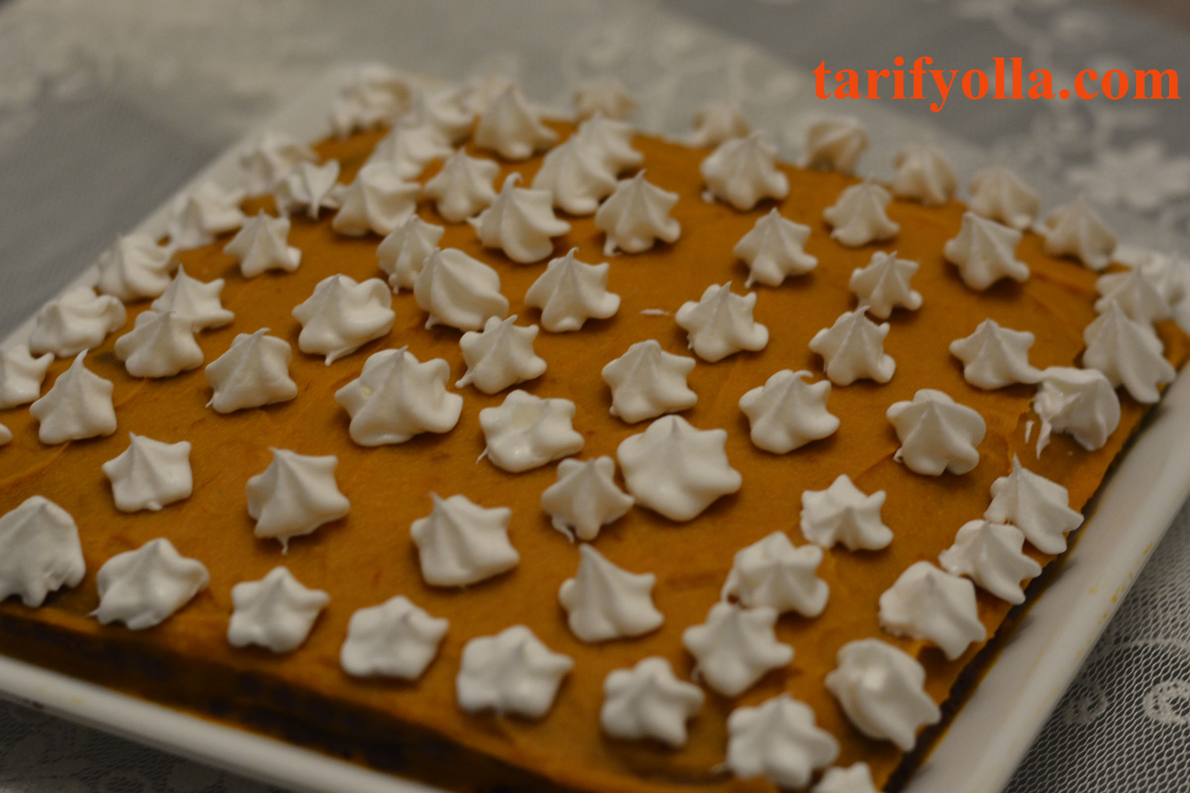 biküvili balkabağı pastası