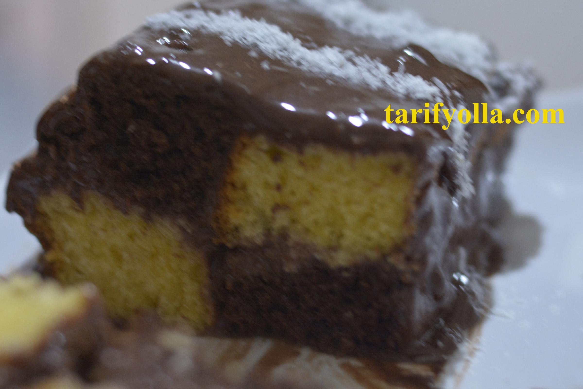damalı buton kek