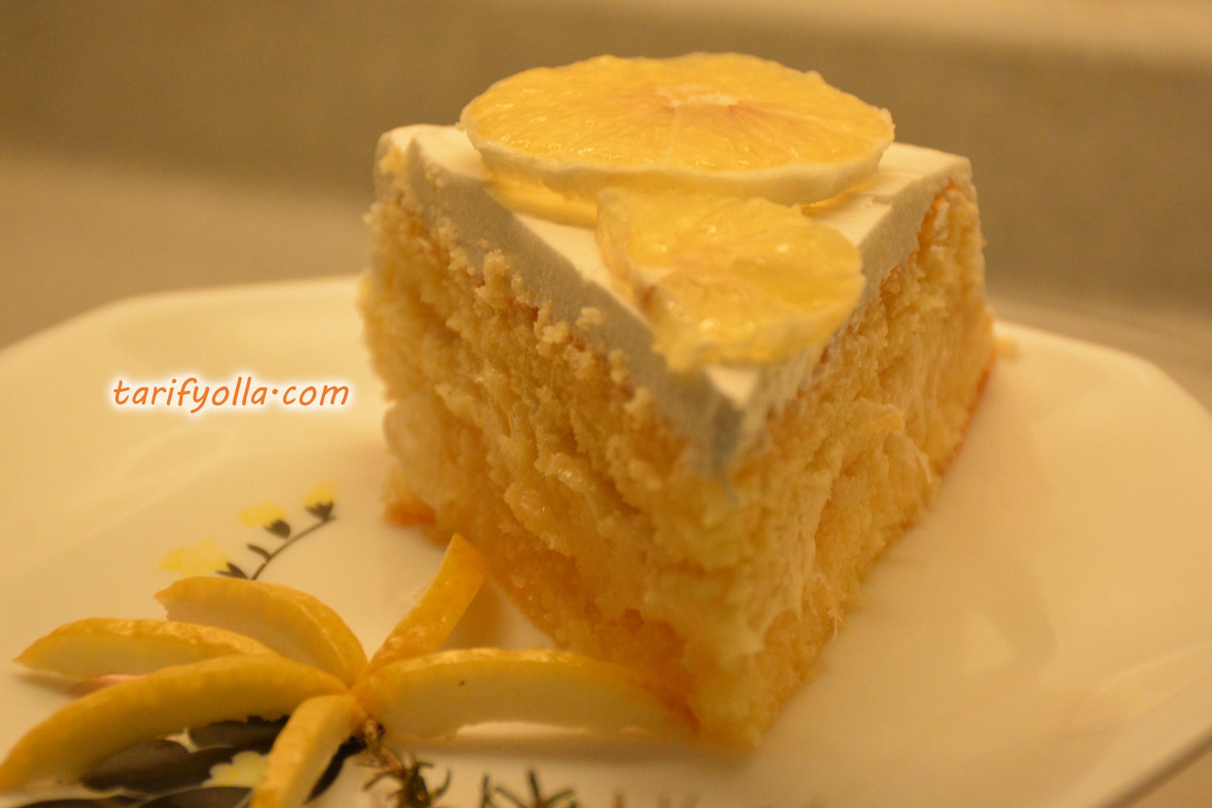 limonlu pasta yaşpasta tarifi